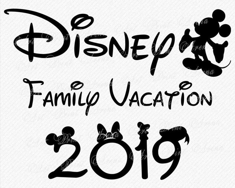 Disneyland clipart family. Disney vacation svg trip