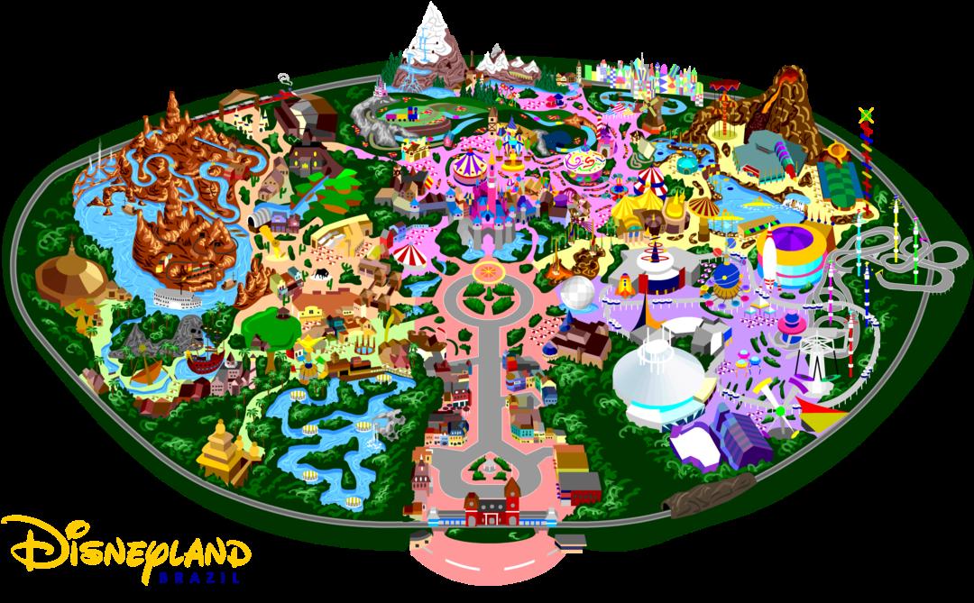 Disneyland clipart map disneyland. Png