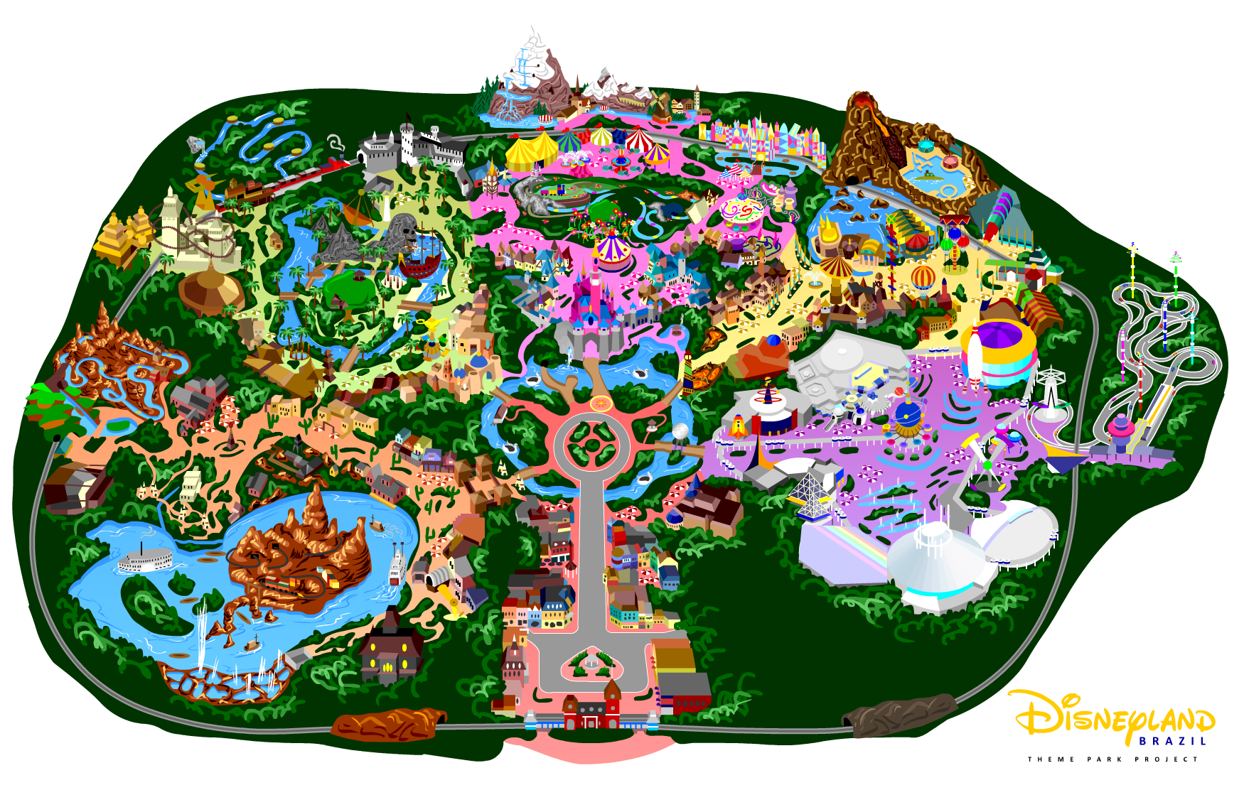 Disneyland clipart map disneyland.  collection of drawing