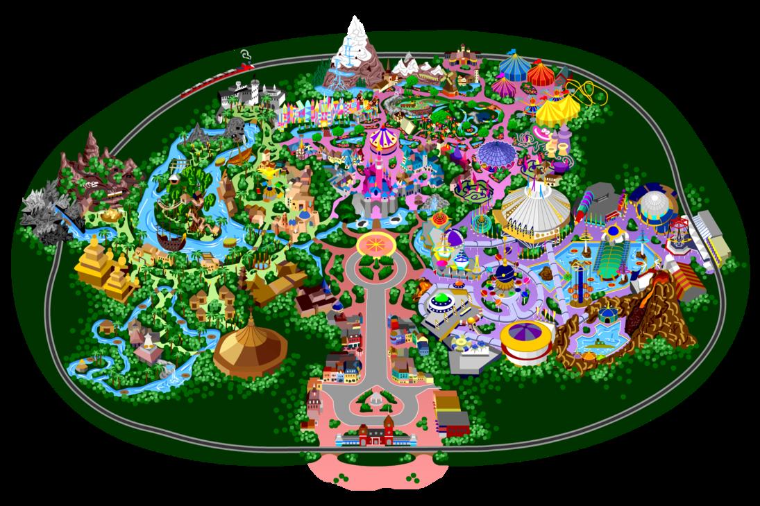 Disneyland clipart map disneyland. By mrzahta on deviantart