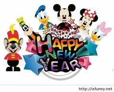 best disney happy. Disneyland clipart new year