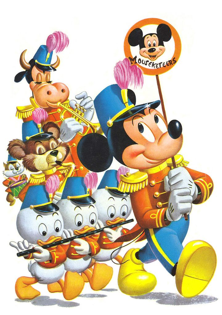 Mickey mouse club back. Disneyland clipart parade disney