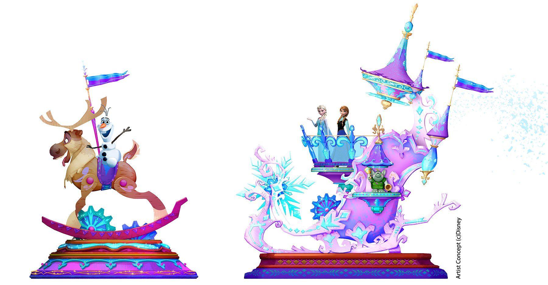 Disneyland clipart parade disney. Concept art released for