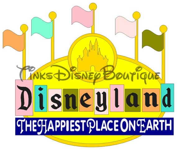 Disneyland clipart sign disneyland. Disney svg title original