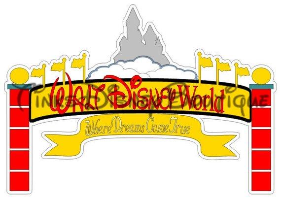 Disneyland clipart sign disneyland. Disney svg title walt