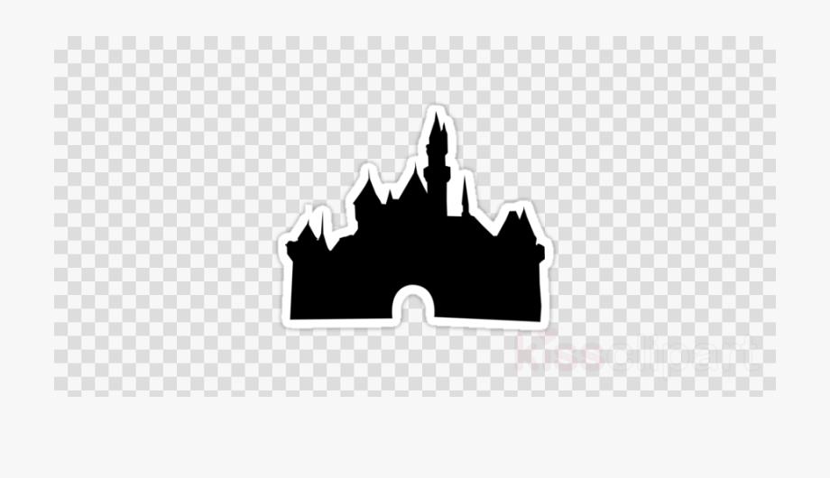 Castle png disney silhouette. Disneyland clipart simple