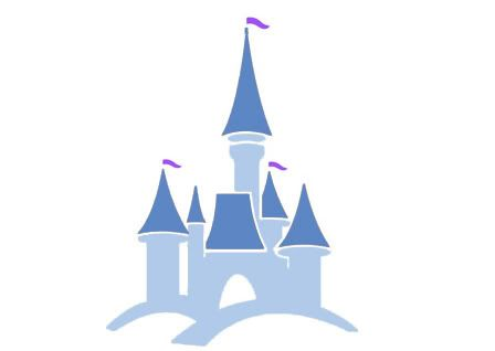 Disneyland clipart simple. Gallery for castle outline