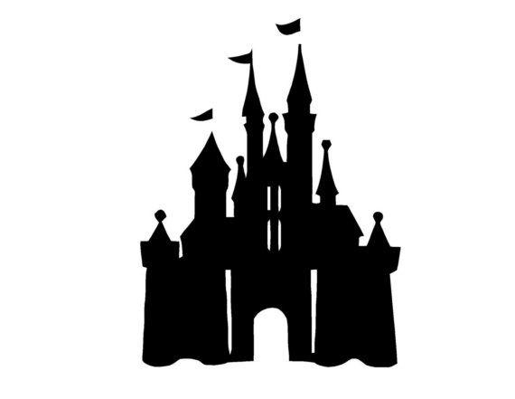 Disneyland clipart simple. Disney castle vinyl wall