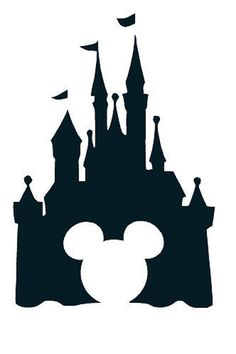 Free disney outline cliparts. Disneyland clipart simple