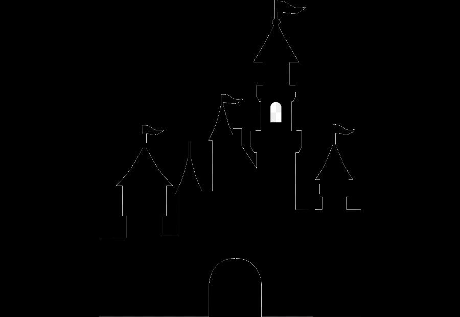 Disneyland clipart transparent. Disney castle silhouette sleeping