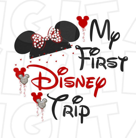 Disneyland clipart vacation disney. My first trip with