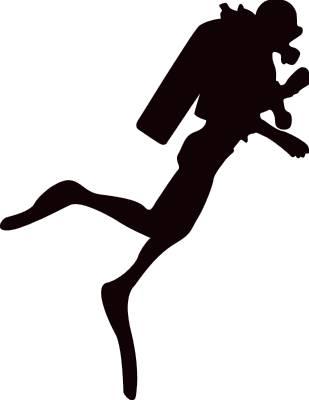 Scuba silhouette clip art. Diver clipart