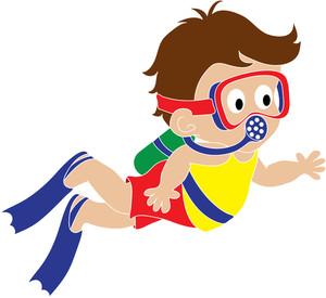 scuba clipartlook. Diver clipart boy