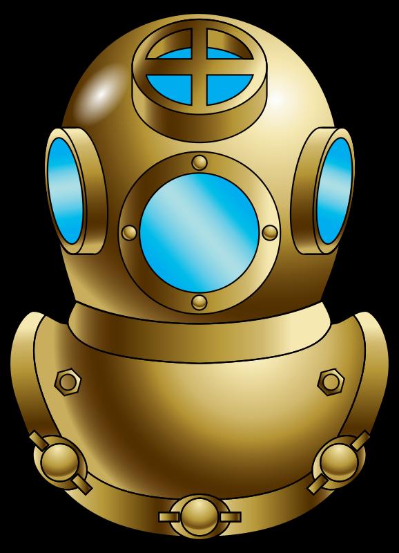 Diving helmet underwater scuba. Diver clipart bucear