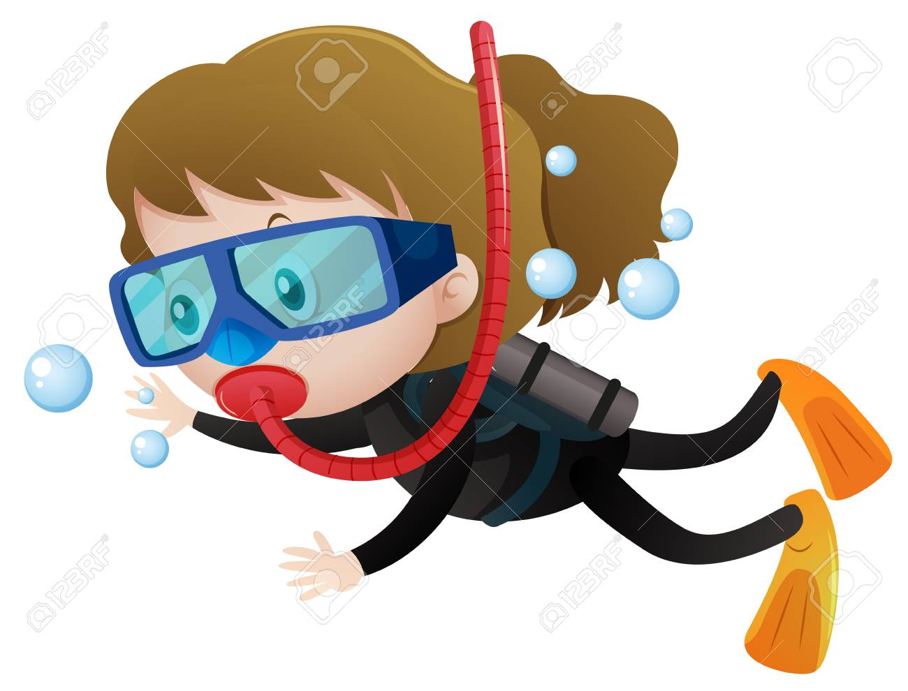 Diver clipart bucear. Free download clip art