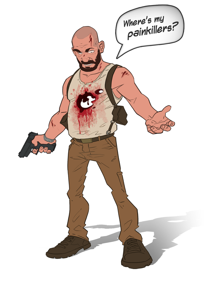 Diver clipart caricature. Max payne cartoon by
