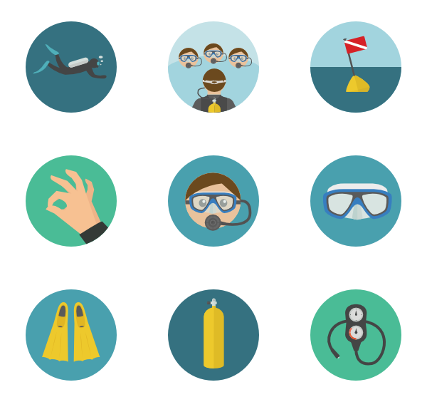 Icons free vector scuba. Diver clipart competitive diving