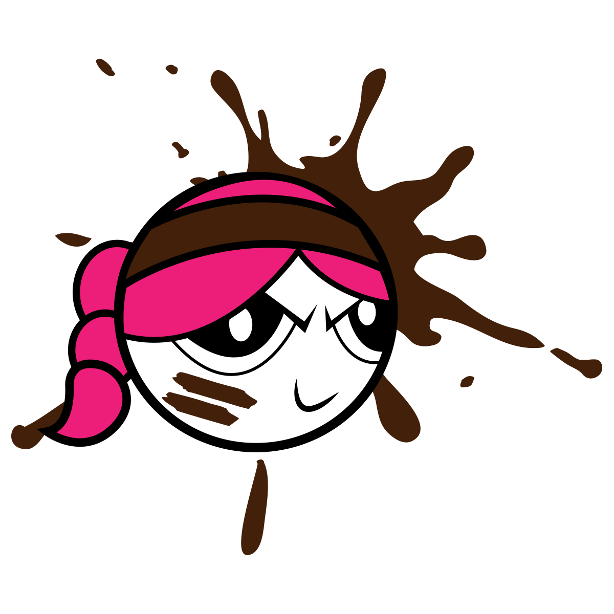 Diver clipart diva. Mud girl la course