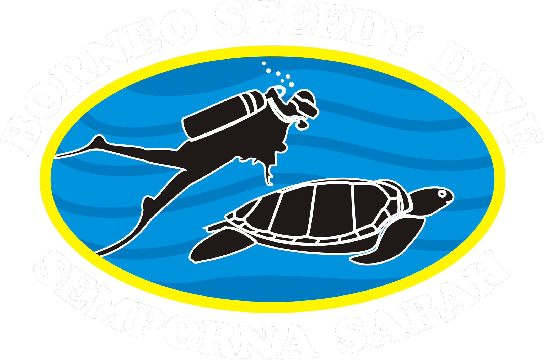 Diver clipart diving block. Logo of borneo speedy