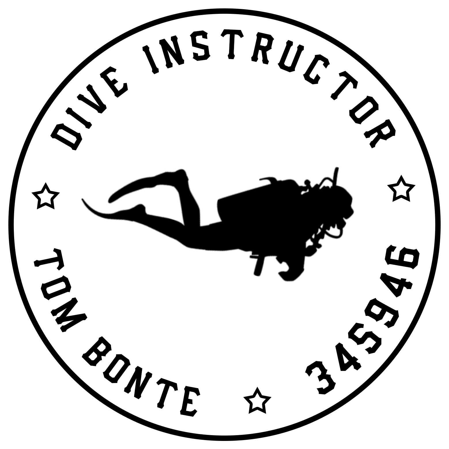 Home dive instructor tom. Diver clipart duiker