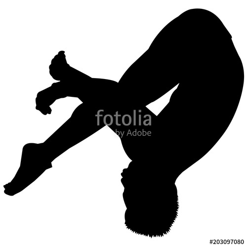 Diver clipart male. Man diving silhouette boy