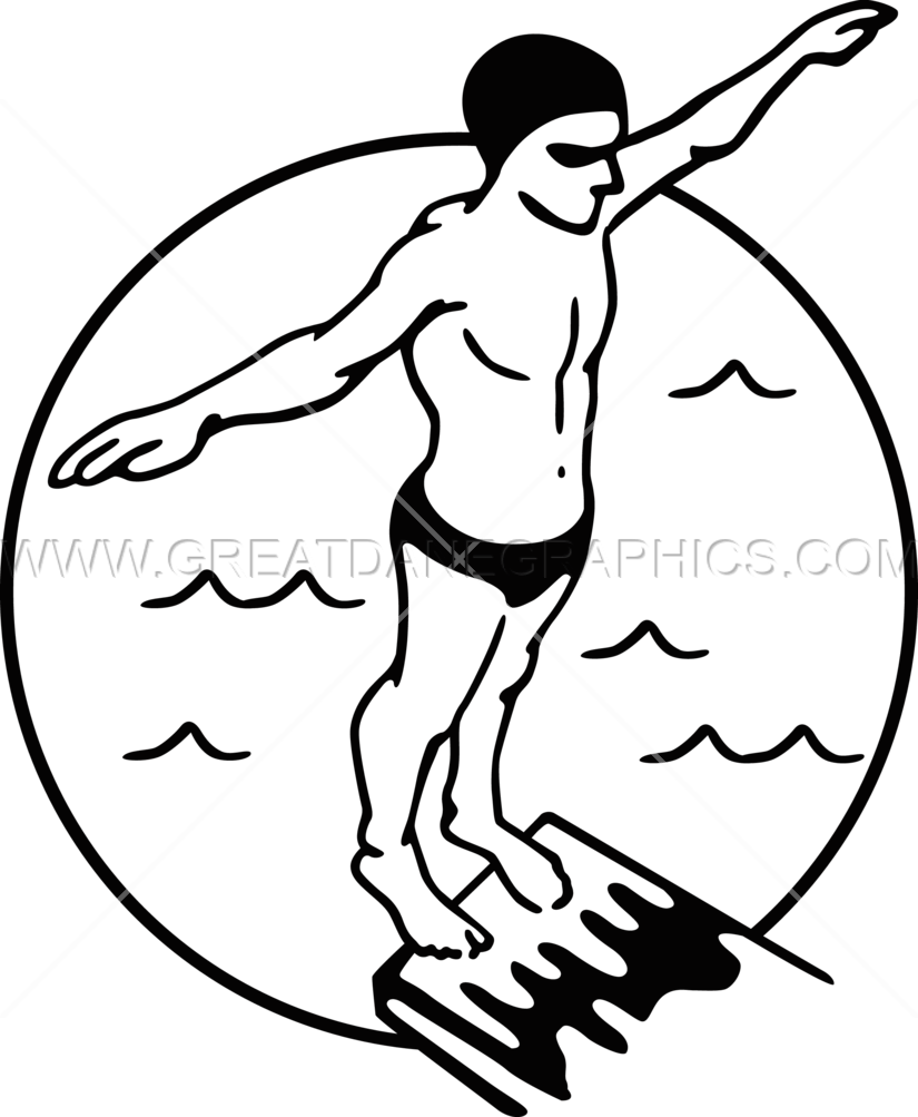 Diver clipart male. Production ready artwork for
