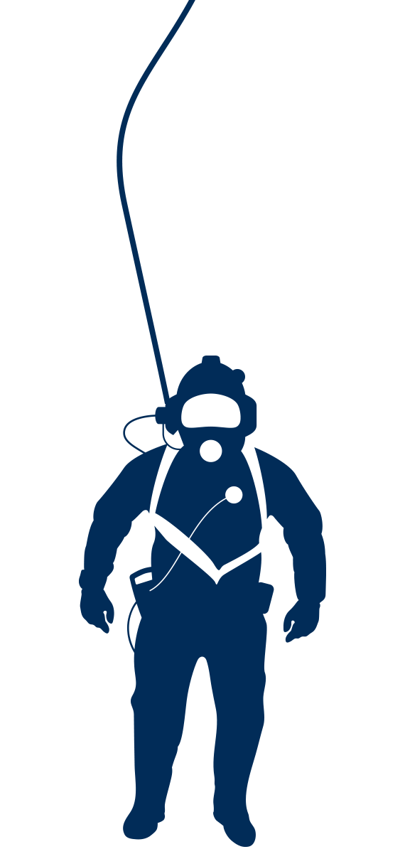Commercial diving blue abyss. Diver clipart marine science