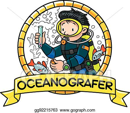 Eps vector funny or. Diver clipart oceanographer