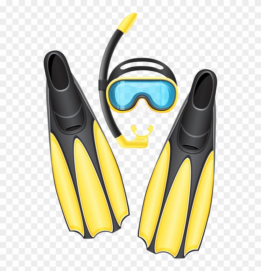 mask flippers diving. Diver clipart scuba gear