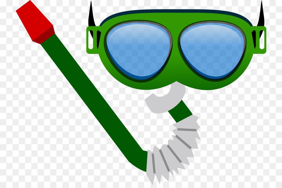 Sunglasses cartoon green product. Diver clipart scuba gear