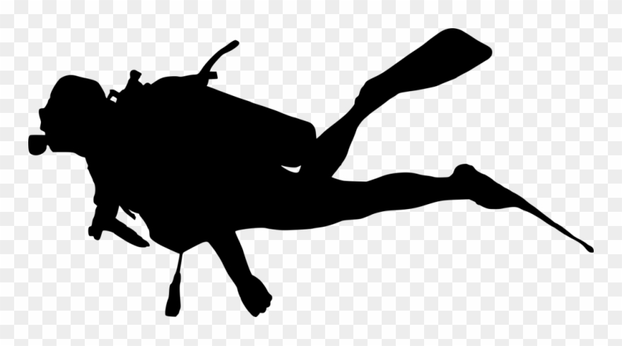 Diver clipart silhouette. Dishes sink drawing scuba