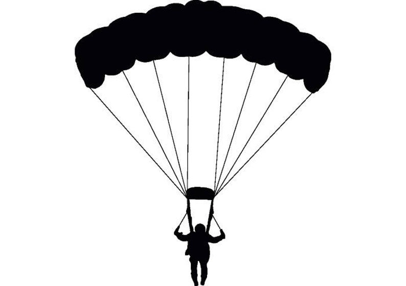 Parachuting parachute skydiving skydiver. Diver clipart sky diving