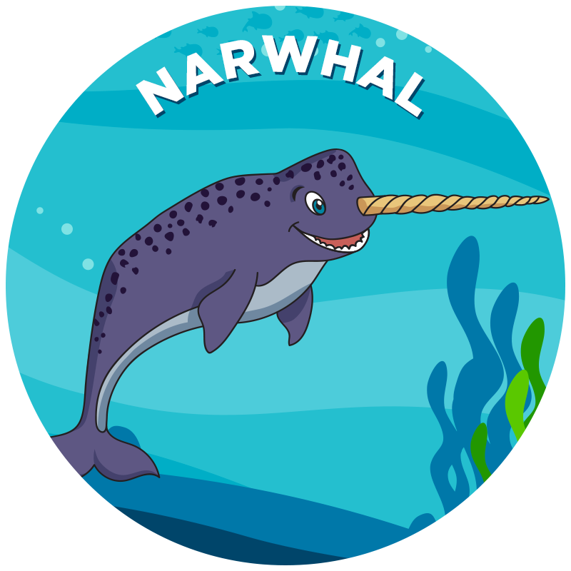 Narwhal clipart blue. Propel swim academy