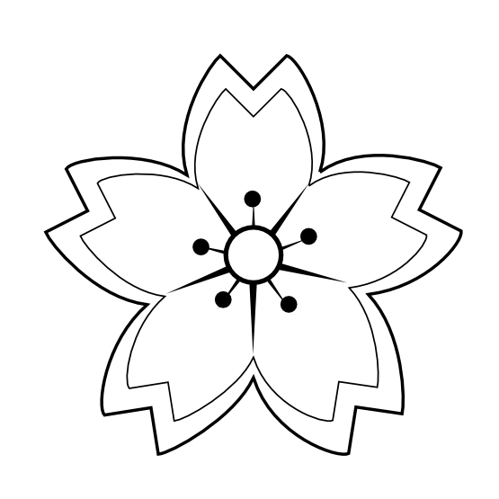 Black flower png sakura. Poppy clipart colouring
