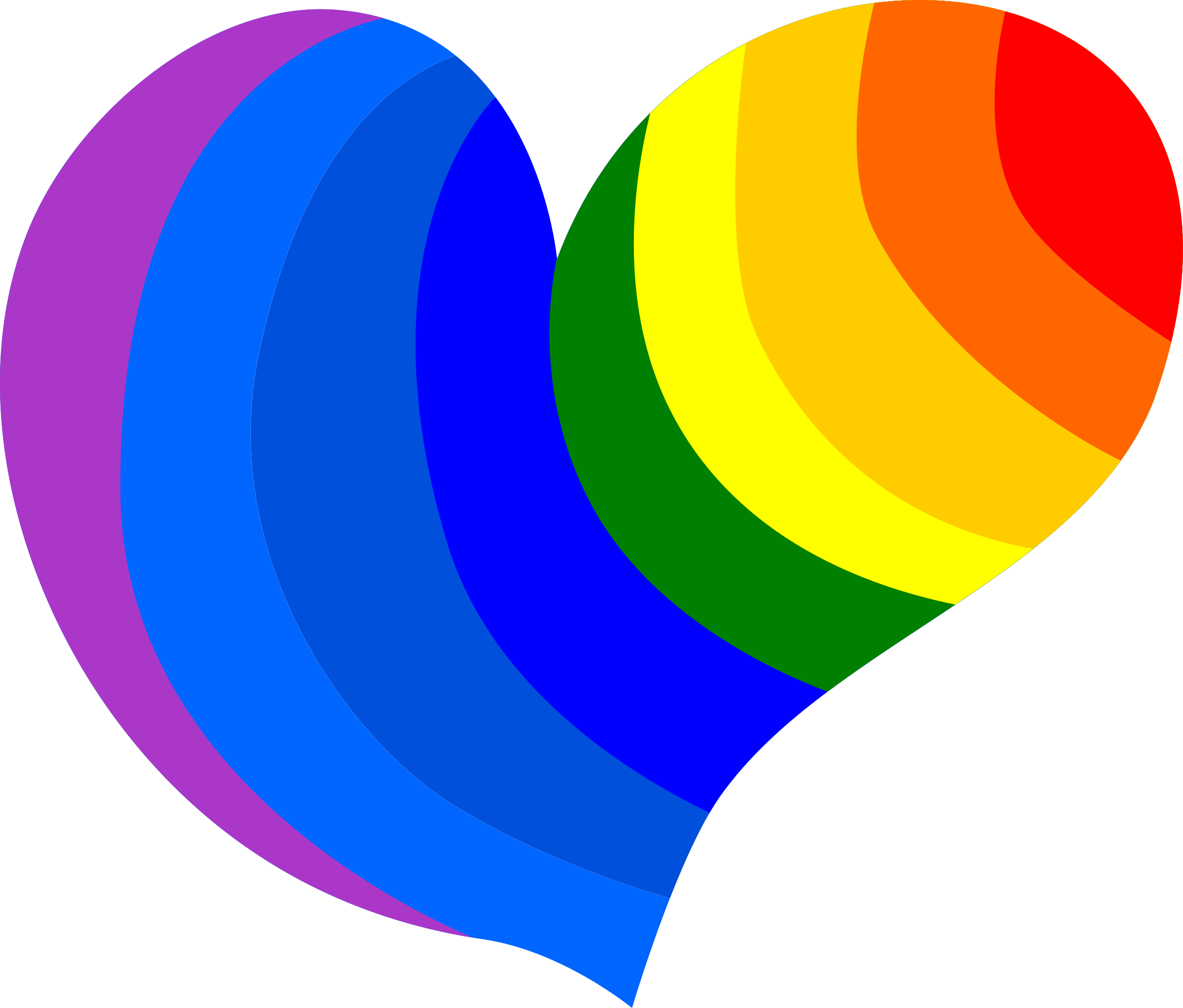 Clipart hippie heart big. Rainbow hearts png