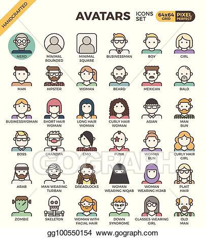 Diversity clipart human diversity. Clip art vector avatar