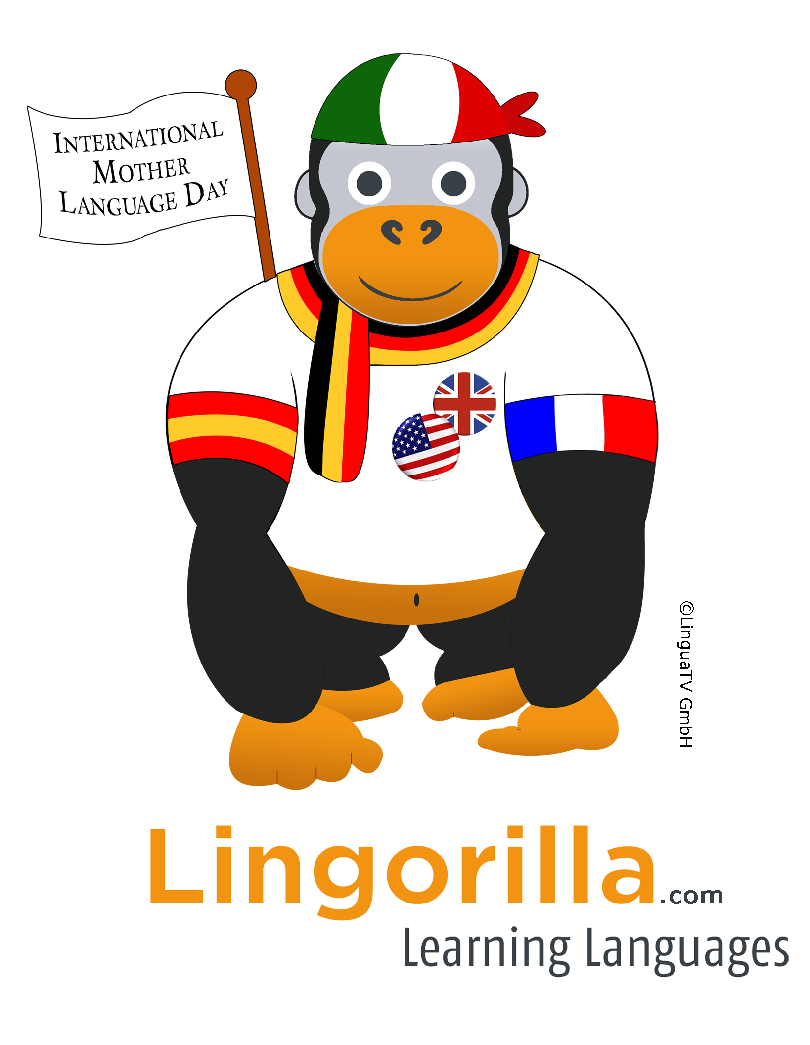 At lingorilla we celebrate. Learning clipart emergent literacy