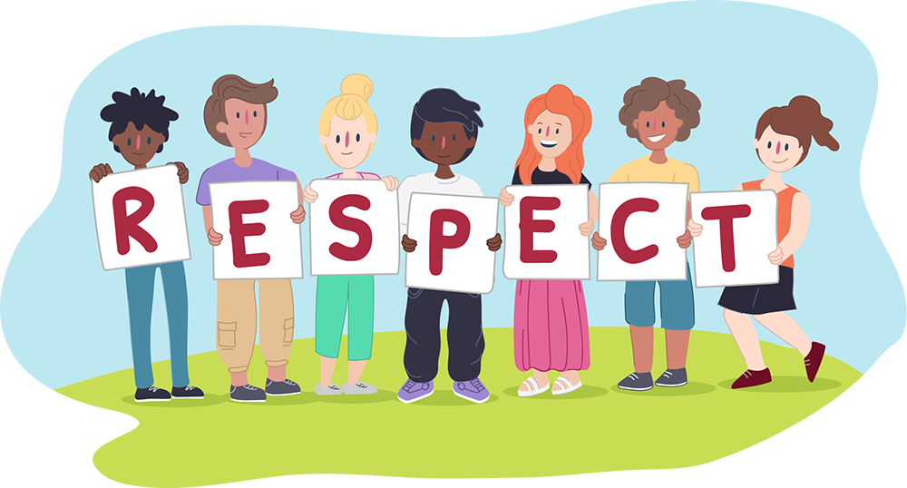 All about why is. Young clipart respect other