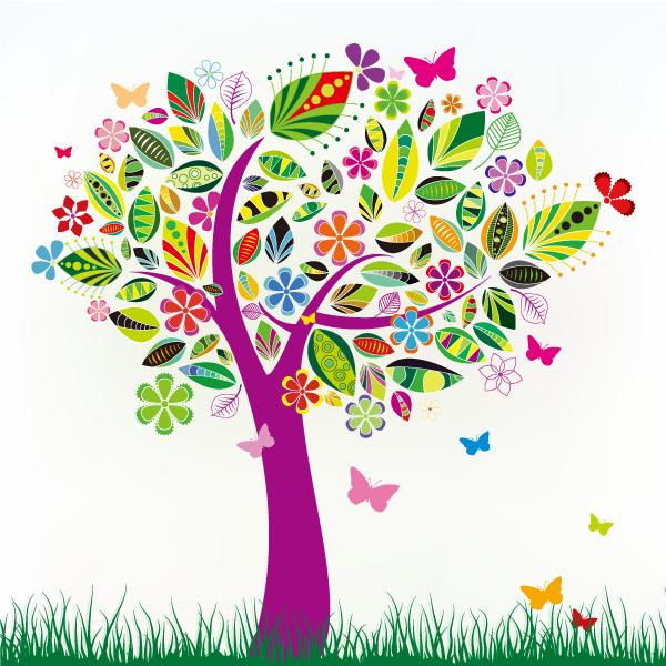 Arbol primaveral trees pinterest. Diversity clipart sibling