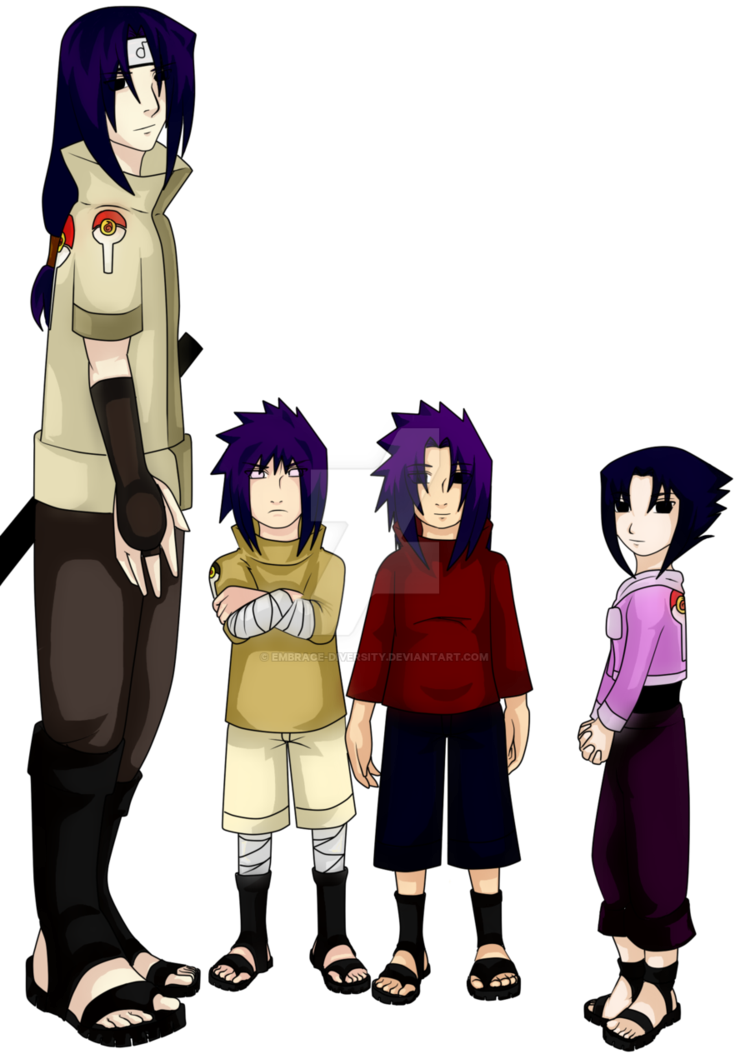 Diversity clipart sibling. Cl uchiha siblings colored