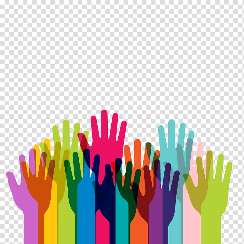 Volunteering clipart ethnic group. Multicolored human hand diversity