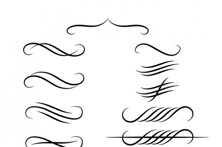 Divider clipart.  calligraphy dividers wedding
