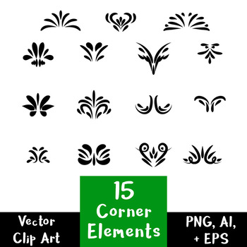 decorative corner elements. Divider clipart