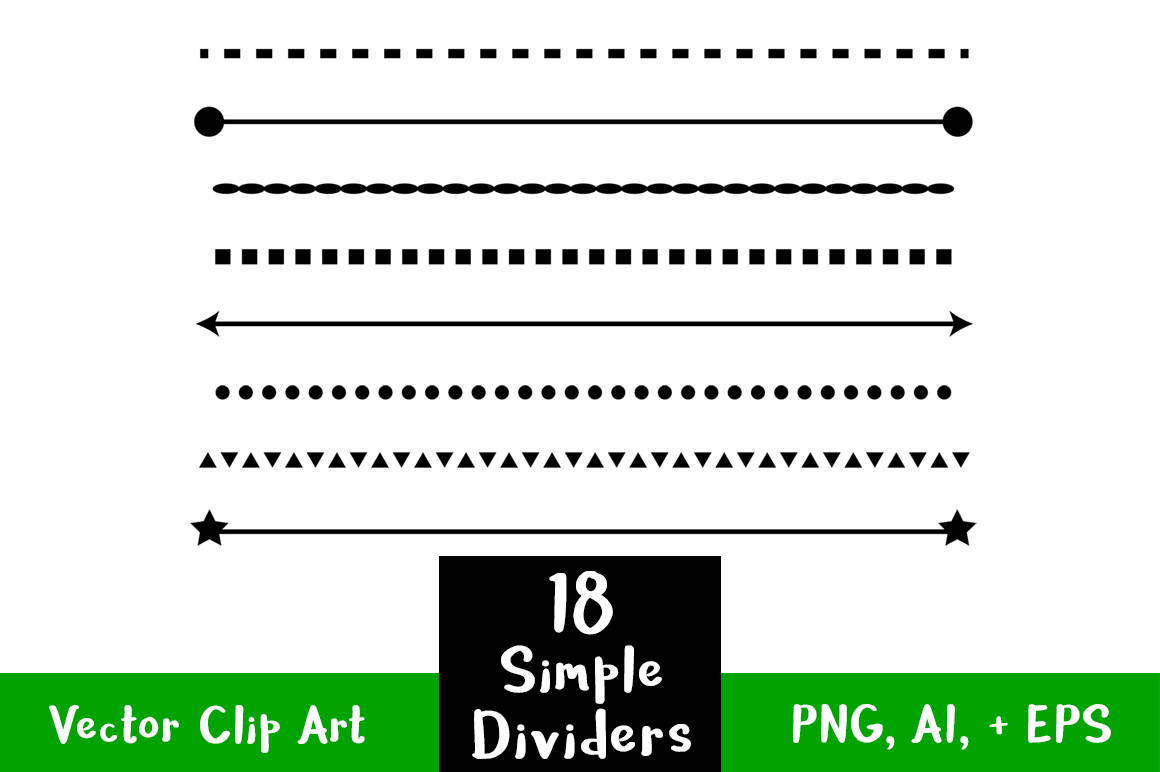 simple shape line. Divider clipart