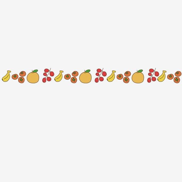 Fruit decoration dividing line. Divider clipart cartoon