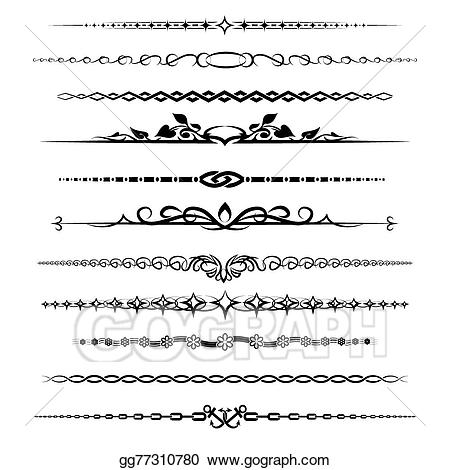 Divider clipart chapter. Vector dividers set illustration