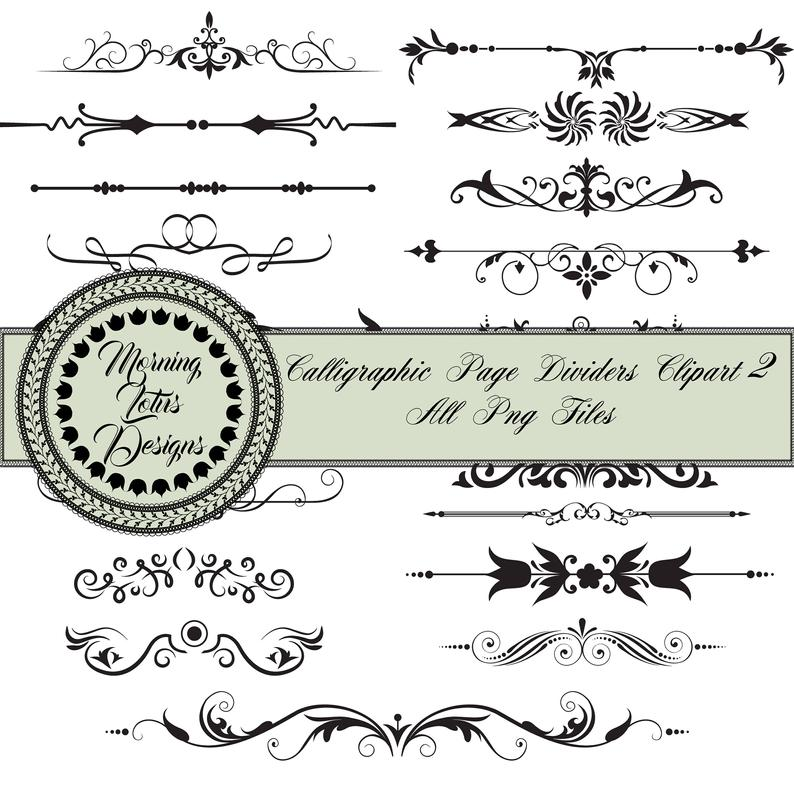 Line dividers page text. Divider clipart content