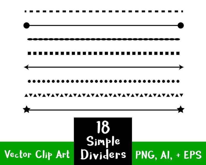 simple shape line. Divider clipart content