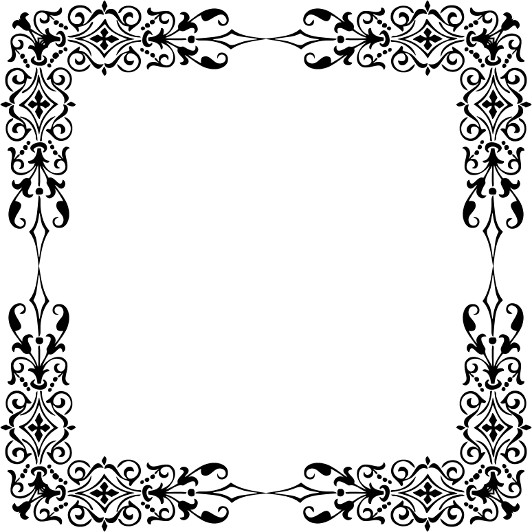Ornamental frame medium image. Divider clipart filigree