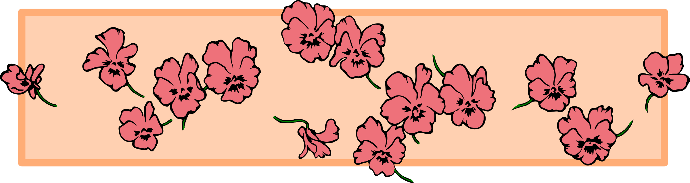 Floral clipart divider. Colour big image png